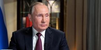Vladimir Putin under en intervju för amerikanska NBC, 1-2 mars 2018 i Kaliningrad. Foto: Kremlin.ru