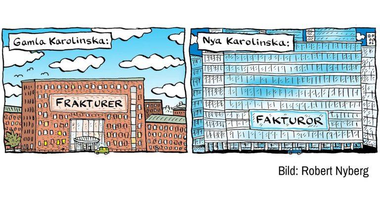 SJUKT HUS – Möte kl 18. om Nya Karolinska Sjukhuset och nyaste svenska sjukvården