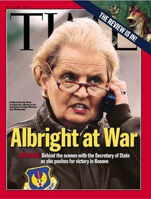 Gullar Sveriges Radio med krigshöken Madeleine Albright?