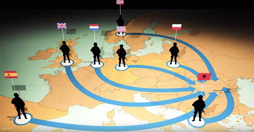 NATO-trupper i Europa - Pressvideo: NATO