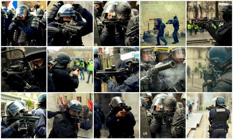 Ökad polisbrutalitet mot Gula västar