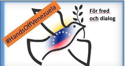 Stöd Venezuela, dialog och fred mot statskuppsplaner från USA & Co. Sergels torg lördag kl 13.