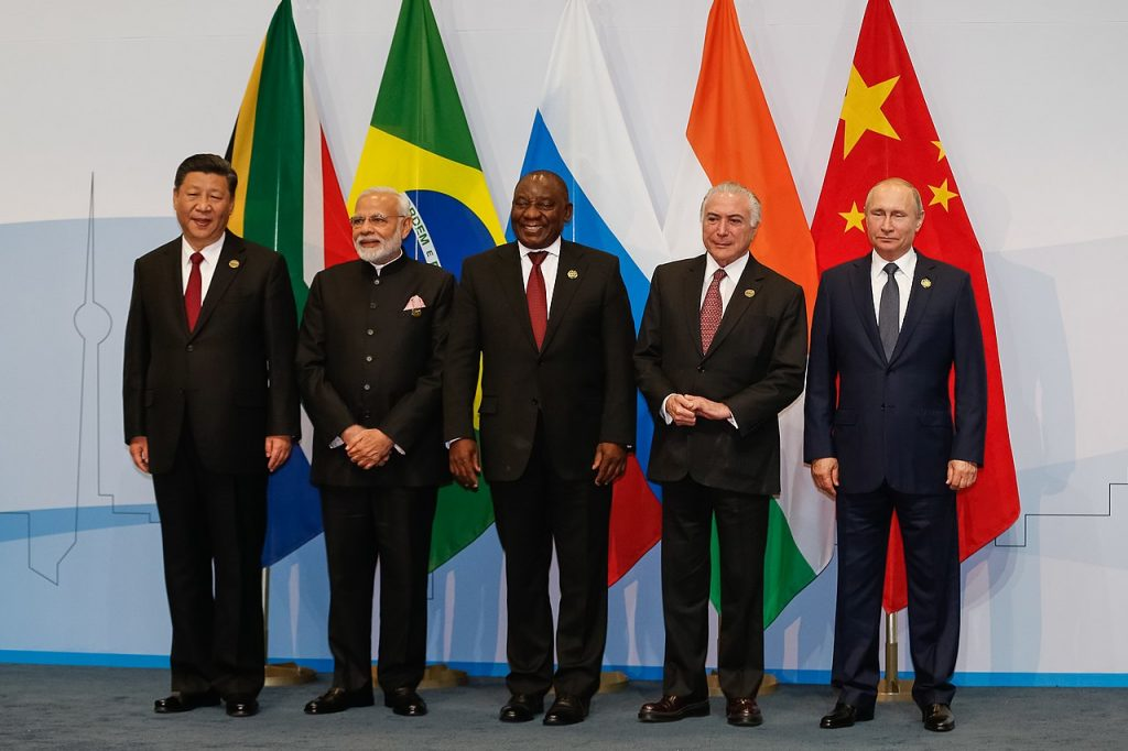 BRICS. Möte i november 2018. By Cesar Itiberê/PR - https://www.flickr.com/photos/micheltemer/45635779921/in/album-72157697127664420/, CC BY 2.0, https://commons.wikimedia.org/w/index.php?curid=74285115