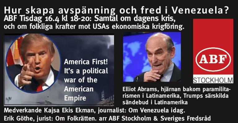 Möte om Venezuela på ABF med Kajsa Ekis Ekman och Erik Göthe. Kom!