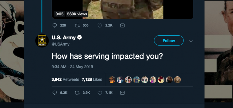 Hur har man det i USA:s armé?