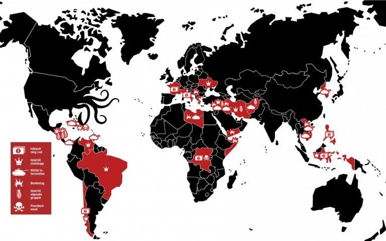 USA har krigat, stött  kupper och påverkat val sedan Andra världskriget