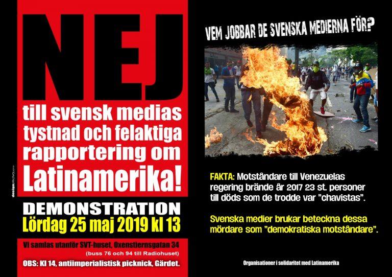Solidaritet med Venezuela! Protestera mot mediernas lögner! Och kom med på picknick!