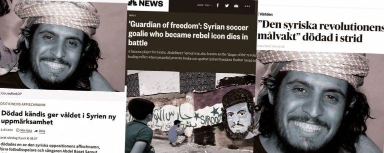 """Den sjungande målvakten, """"affischnamnet"""" (och terroristen som hyllade bin Laden) i Syrien."""