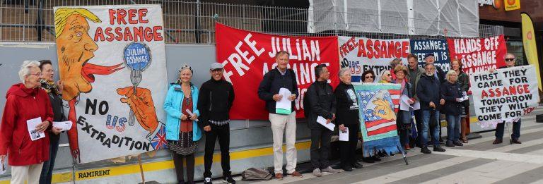 Frige Assange! Manifestation lördag 13 juni kl 14-15!