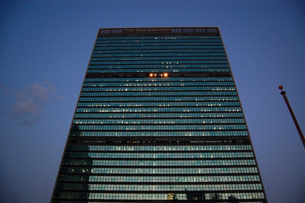 United Nations (FN) i New York. Foto: Tadekk. Licens: CC BY 2.0, Flickr.com