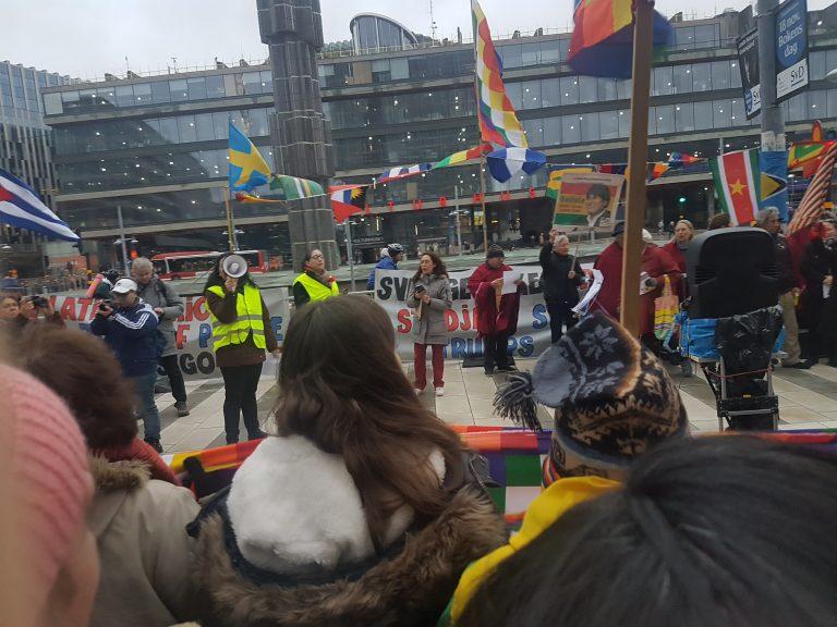 Se och hör den fina manifestationen på Soltorget i Stockholm!
