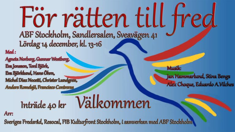 Anta FN-konventionen för ett kärnvapenförbud – minska risken för kärnvapenkrig i/från Sverige!