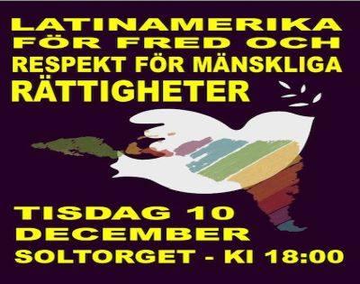 Kom till ljusmanifestationen på Soltorget 10/12!