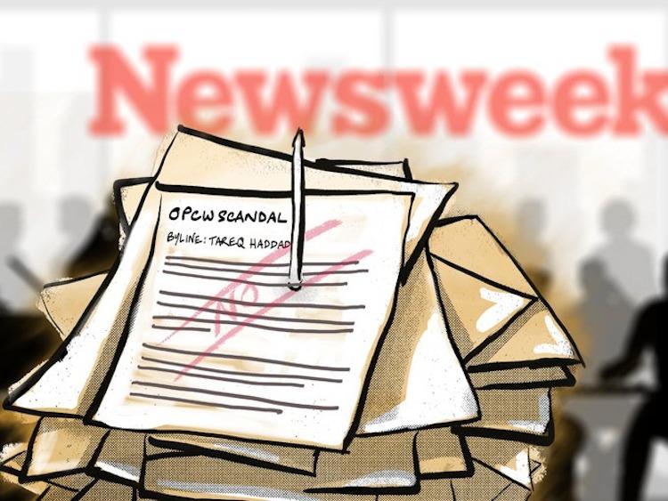 """Newsweek tystade journalist som skriver om OPCW:s gasskandal. """"Fake News"""" genom utelämnande."""