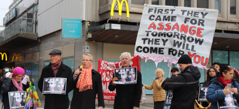 Internationell manifestation för Assange – Soltorget Stockholm 22 februari. Kom, kom!