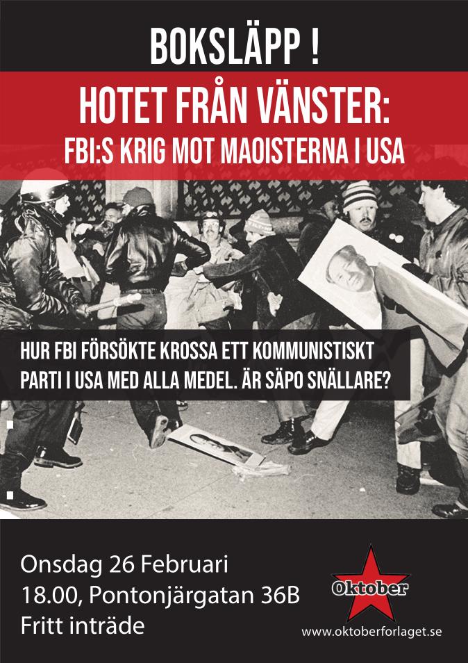 """Boksläpp av """"Hotet från vänstern"""" den 26 februari"""