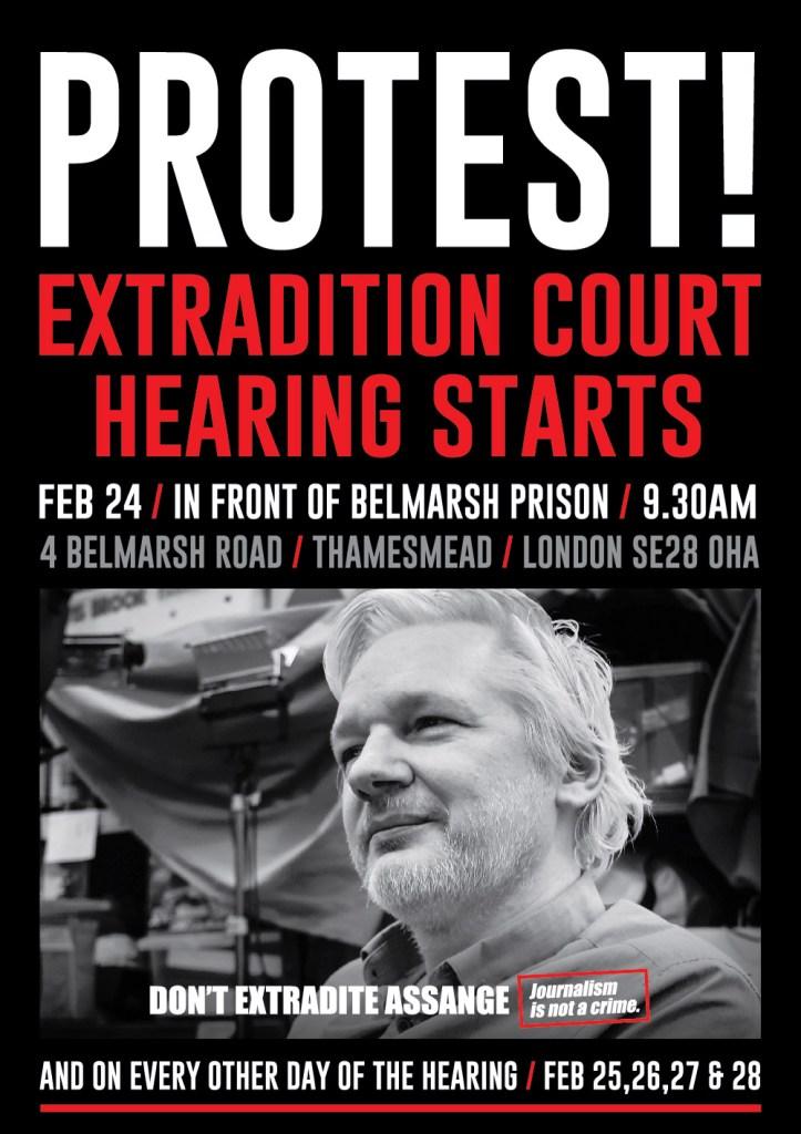 Globala protester idag till stöd för Julian Assange