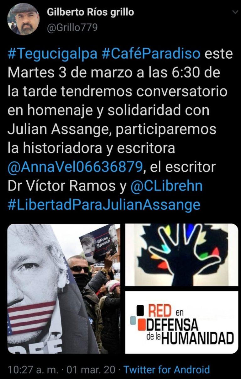 Solidaritet med Assange även i Honduras!