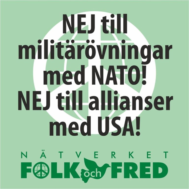 Nej till militärövningar som destabiliserar säkerhetspolitiska läget!