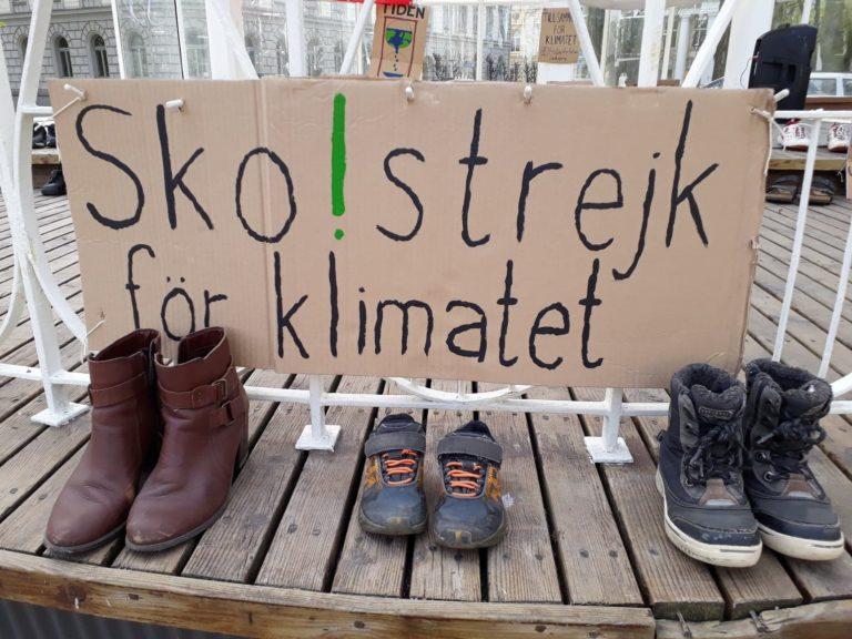 Sko-strejk för en klimatsmart omstart på lördag!