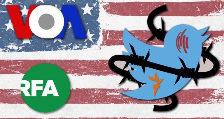"""Twitter sprider propaganda från USA:s regering men påstår att man inte sprider """"information"""" från statliga medier"""