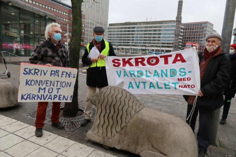 Nej till ökat samarbete med Nato! Satsa på FRED!