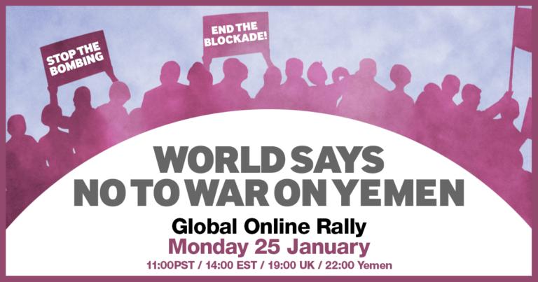 Världen säger Nej till kriget i Jemen -webbinarium