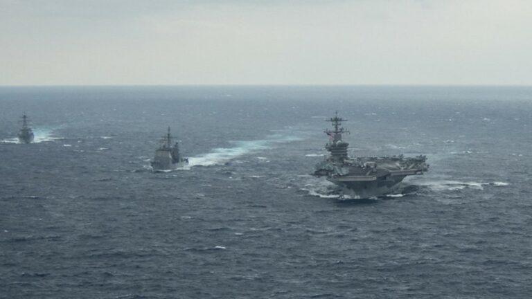 USA:s flotta agerar i Sydkinesiska sjön medan Atlantic Council tar fram rapport för kallare krig mot Kina