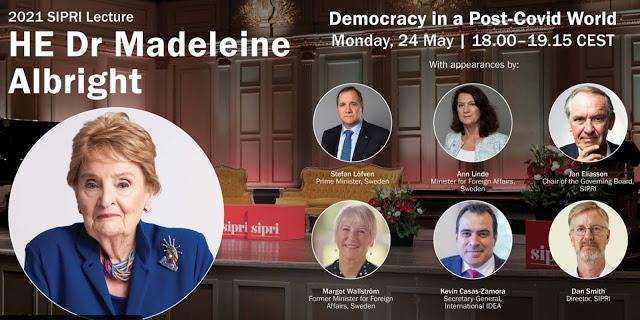 Det är skamligt att hedra krigshetsaren Madeleine Albright i Stockholm 24 maj 2021!