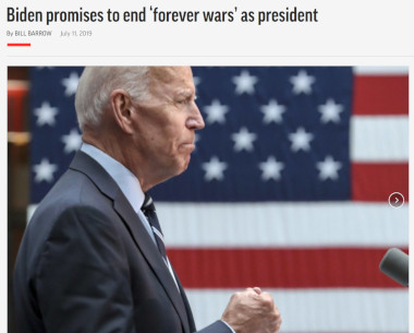 """Biden avslutar inte """"Forever Wars"""". Han banar väg för nya."""