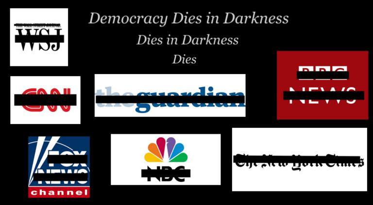 Skrämmande ökning av massmedia-mörkläggningar av obekväma nyheter!