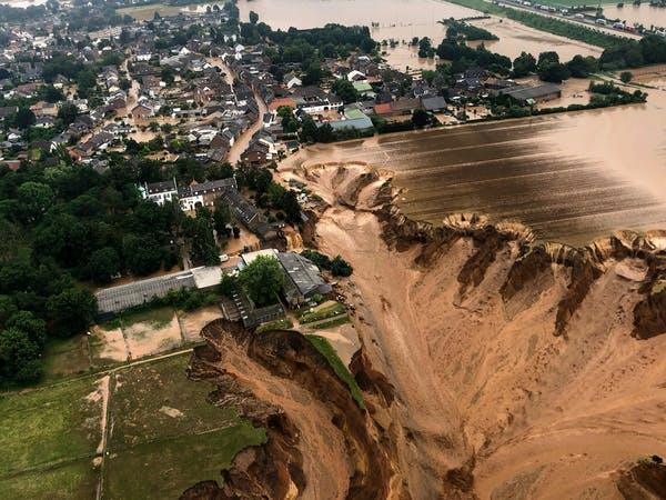Vad beror översvämningarna i Tyskland på?