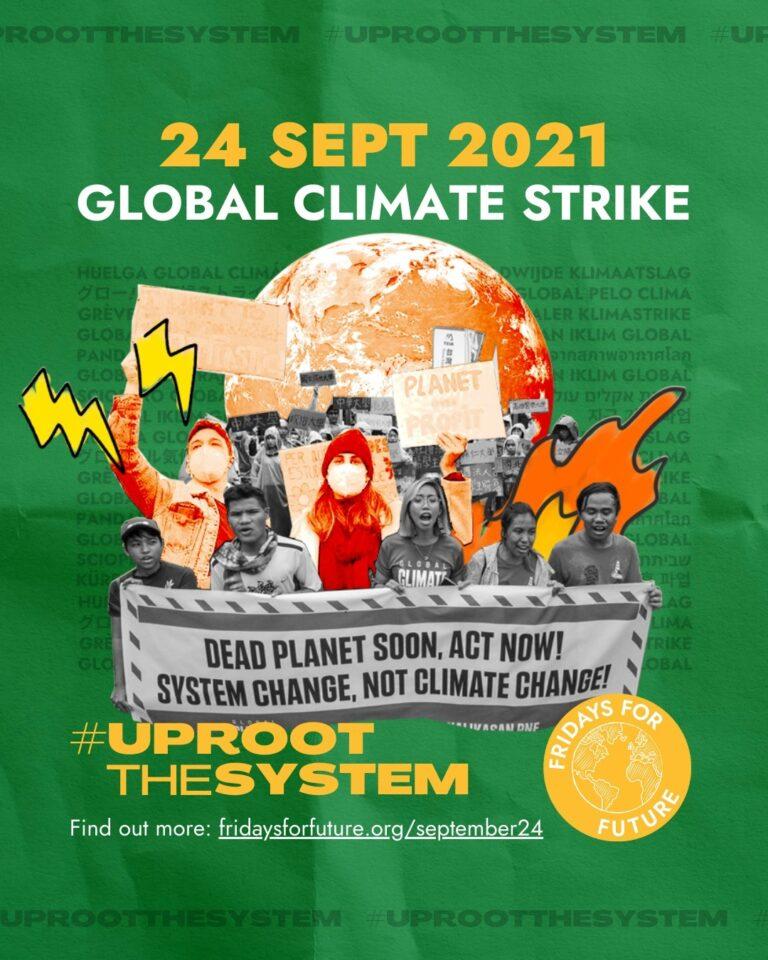 24 September Global Climate Strike. Kom med!