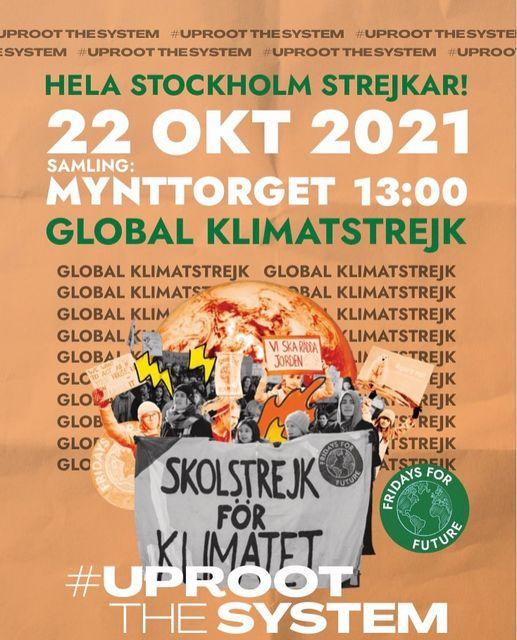 Global klimatstrejk idag kl 13 på minst 28 orter i Sverige. Kom med!
