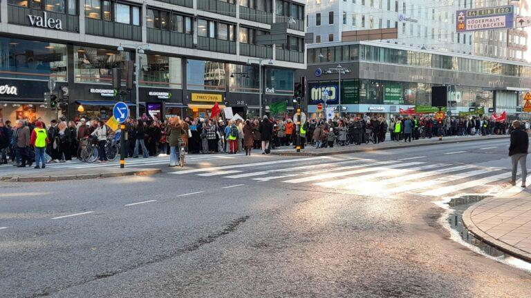 Engagerande radikal klimatdemonstration i Stockholm – en av 500 globalt!