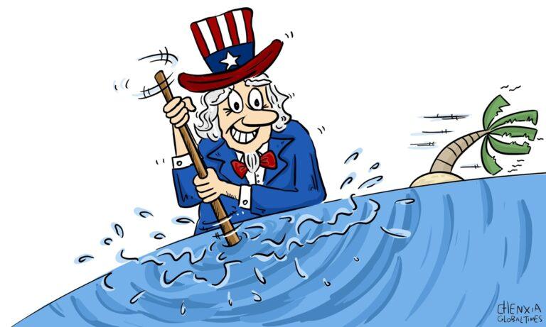 Kina accepterar inte hegemoniska handlingar från USA i Sydkinesiska havet. Uppdaterad!